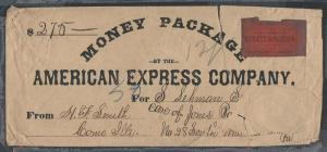 American Express, ca. 1870 Legal Size Envelope, Independe...