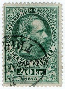 (I.B) Austria Telegraphs : State Telegram 40kr