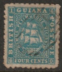 British Guiana 1866 Sc 52 used