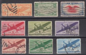 Old Used United States Airmail Stamps - Lot #MO-178