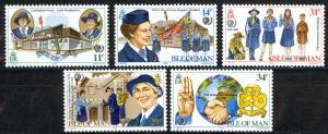 Isle of Man Sc# 276-280 MNH 1985 Girl Guides
