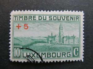 A4P27F118 Letzebuerg Luxembourg Semi-Postal Stamp 1921 10c + 5c used