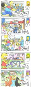 #4399-4403 The Simpsons Collins FDC Set
