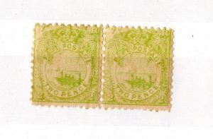 Fiji QV 1891/1902 2d Pair Mint X5131