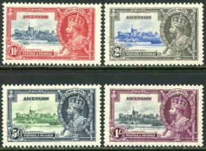 ASCENSION Sc#33-36 SG31-34 1935 KGVI Silver Jubilee Complete Set OG Mint Hinged