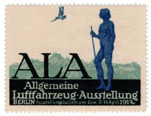 (I.B) Germany Cinderella : Air Travel Exhibition (Berlin 1912)