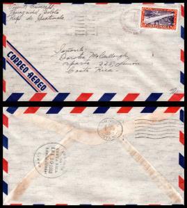 Goldpath: Guatemala Airmail Cover 1953. _CV17_P9