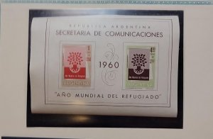O)1960 ARGENTINA, THE SURTAX WAS FOR AID TO REFUGEES,  UPROOTED OAK, SCT B25
