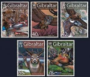 Gibraltar Wholesale 10 Sets 2007 Prehistoric Wildlife Scott #1098-102