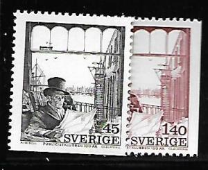 SWEDEN 1092-1093 MNH C/SET MR SIMMONS