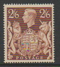 GB George VI  SG 476 unmounted mint  gum some lightly yellowed