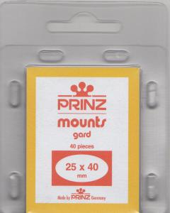 PRINZ CLEAR MOUNTS 25X40 (40) RETAIL PRICE $3.99