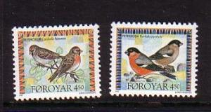 Faroe Islands Sc 300-1 1996 Bird stamp set mint NH