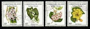 CHRISTMAS ISLAND SG216/9 1986 NATIVE FLOWERS FINE USED