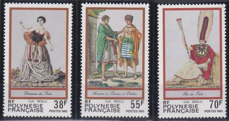 French Polynesia 419-421 MNH (1985)