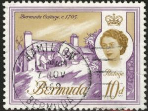 BERMUDA Scott 182A Used 10p Queen  stamp 1965