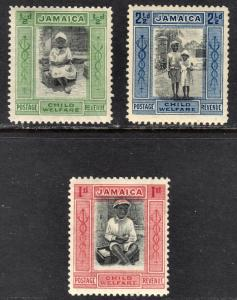 Jamaica Scott B1-3  complete set  F to VF mint OG NH, Sc B3 is VLH..