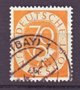 J22449 Jlstamps 1951-2 germany hv of set used #683 posthorn