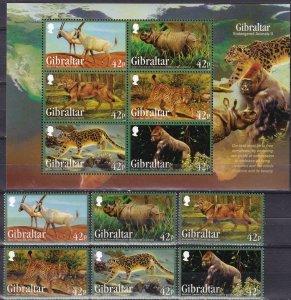 Gibraltar #1353-8, 1358z  MNH   CV $16.50  (Z2506L)