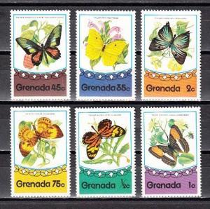 Grenada, Scott cat. 660-666. Various Butterflies issue. ^