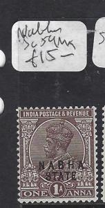 INDIA NABHA (PP0508B)  KGV  1A  SG 59   MOG