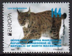 MACEDONIA 2021 EUROPA CEPT WILD ANIMALS [#2102]