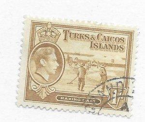 Turks & Caicos #86 Used CAT VALUE $11.00