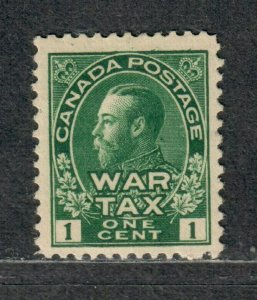 Canada Sc#MR1 M/H/F-VF+, War Tax, Cv. $27.50