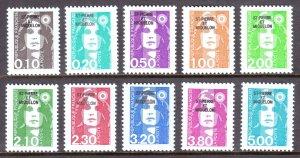 St. Pierre and Miquelon - Scott #522//543 - MNH - SCV $9.95