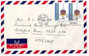 UNITED NATIONS Cover USA New York Commercial Air Mail NUCLEAR SLOGAN 1975 VV492