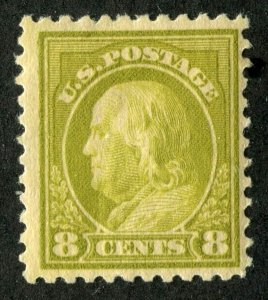 #508 Eight cent Franklin Olive  **Mint light Hinged**
