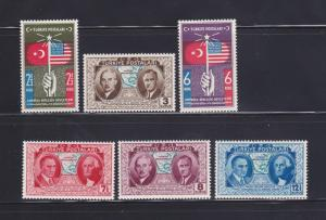 Turkey 817-822 Set MH Various (A)