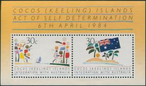 Cocos Islands 1984 SG125 Integration MS MNH