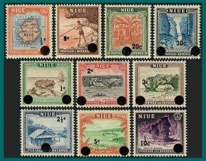 Niue 1967 Decimal Surcharges, MNH  #106 - 115,SG125-SG134