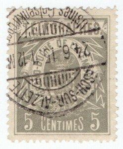 (I.B) Luxembourg Telegraphs : 5c Grey (1883)