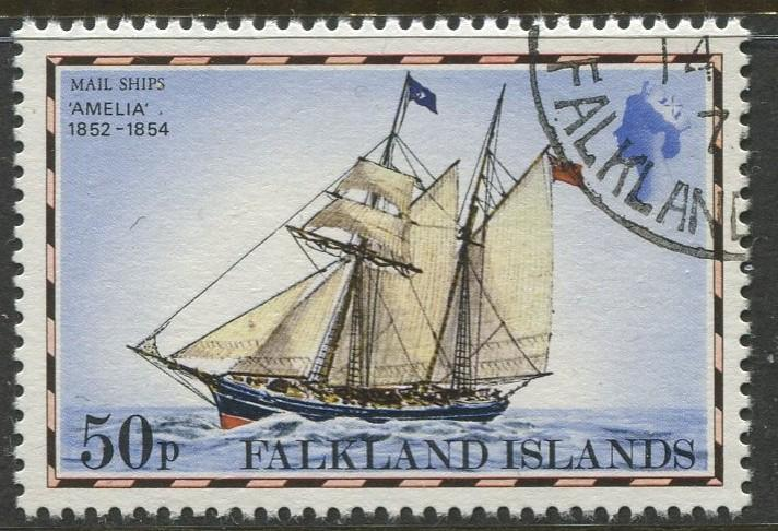 Falkland Is.- Scott 272 - Ships Issue - 1978 - VFU - Single 50p Stamp