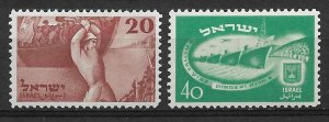 1950 Israel 33-4 lndependence Day MH C/S of 2