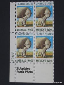BOBPLATES #1423 Wool Lower Right Plate Block 32541  F-VF NH SCV=$1