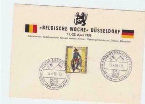 Germany  Dusseldorf 1956 Belgian week stamps card R21179