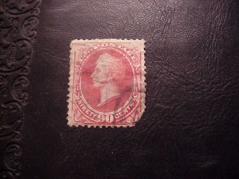 1873 90 CENT PERRY STAMP SCOTT 166 USED CV 275.00