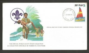 1982 Fiji World Scout Stamp Collection FD card