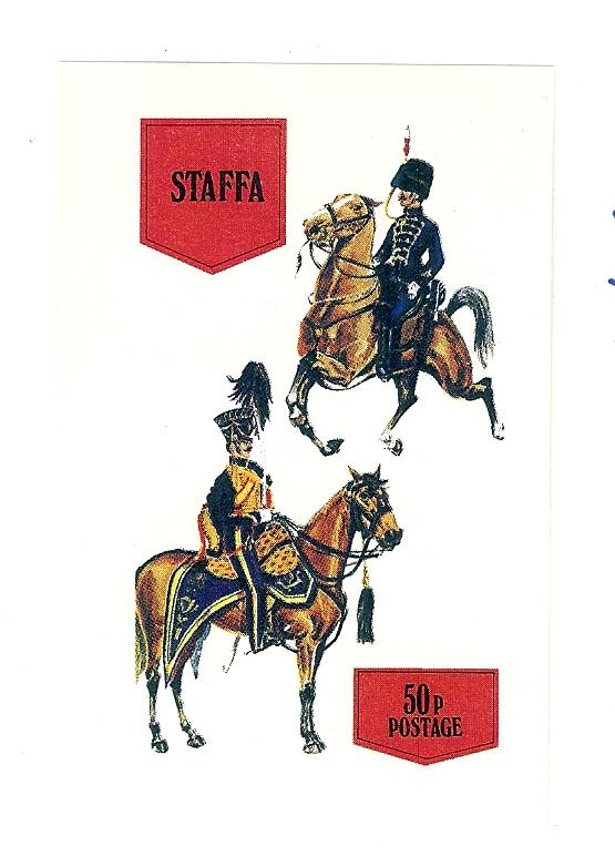 Staffa (Scotland), N/L, Military Calvary Imperf S/S, MNH