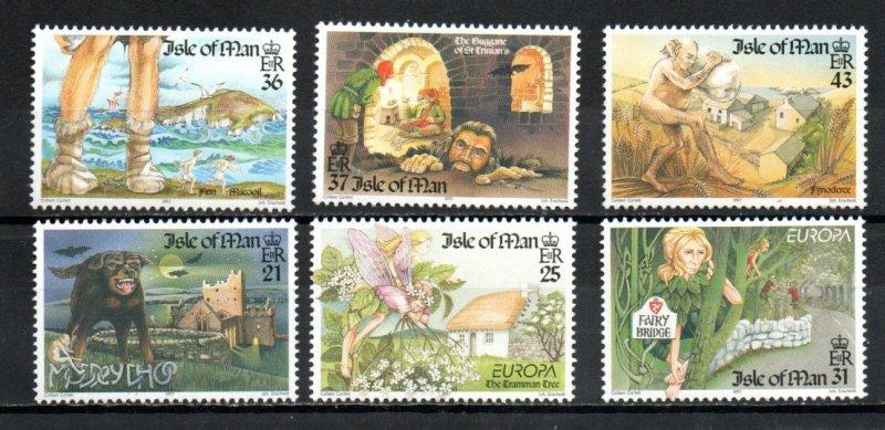 Isle of Man 738-743 MNH