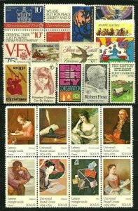 1974 Commemoratives Year Set, (1505-1506//1525-1552) (30), MNH, (2)