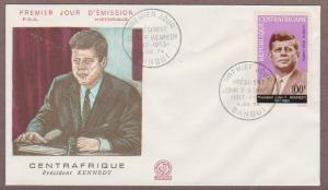 Central Africa Republic Airmail # C24 JFK FDC - I Combine S/H