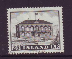 Iceland Sc 273 1952 Parliament Building stamp used