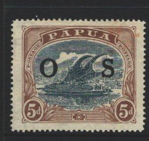 Papua New Guinea Sc#O7 MH - couple of tone spots