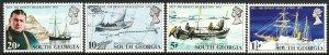 1972 South Georgia Sir Ernest Shackleton complete set MNH Sc# 31 / 34 CV $4.70