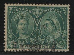 Canada, 52, USED, 1897 Queen Victoria 1837 & 1897