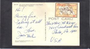 Postcard Jamaica Stamp CV2732